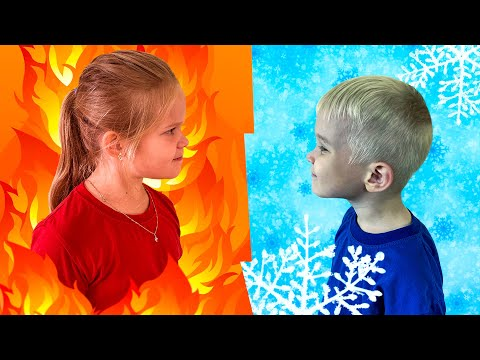 Лера горячее или холодное челлендж с Лёвой