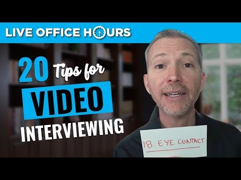 20 Tips to Ace Your Video Interview: Live Office Hours: Andrew LaCivita