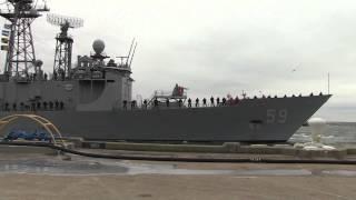 USS Kauffman (FFG 59) underway on last deployment of a frigate