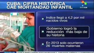 Cuba among the countries with the lowest infant mortality rate