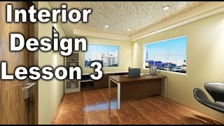 Vray Material Apply On Interior In 3Dsmax 3 ( Interior Design Lesson 3) HINDI