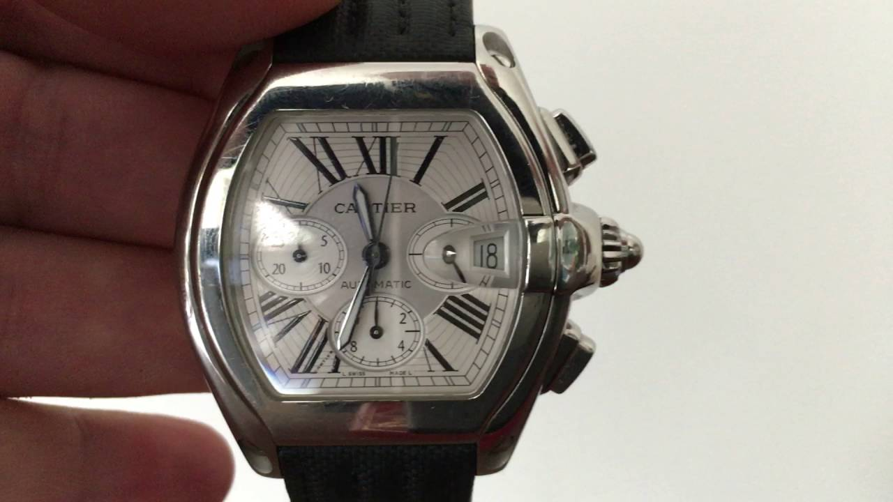 cartier roadster chronograph xl men watch leather strap 2618 cartier roadster chronograph xl men watch leather strap 2618