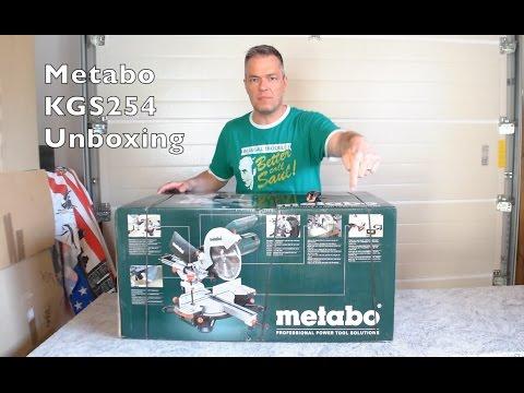 metabo kgs254 unboxing kapp und zugs ge youtube. Black Bedroom Furniture Sets. Home Design Ideas