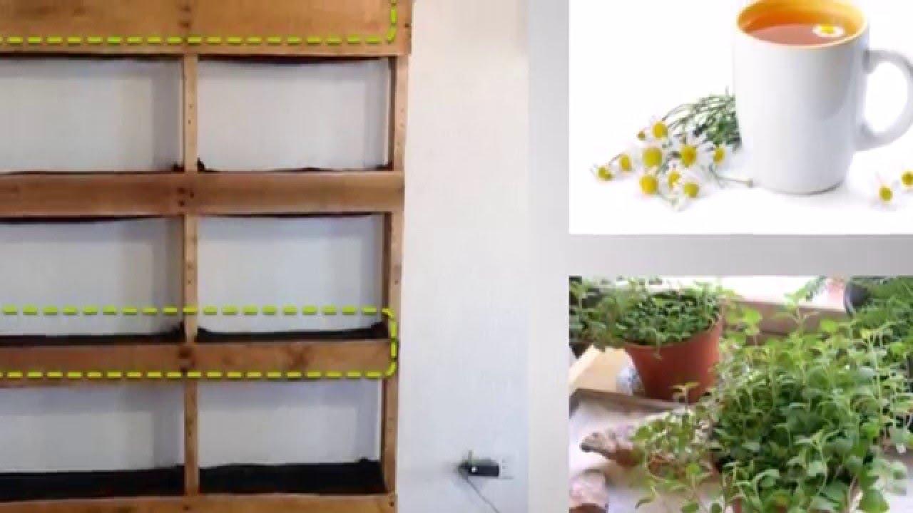 Jard n vertical con tarimas youtube for Jardines verticales con tarimas