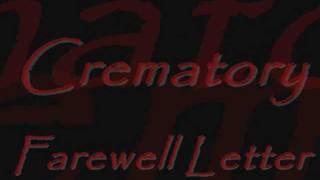 Crematory - Farewell Letter [Lyrics]
