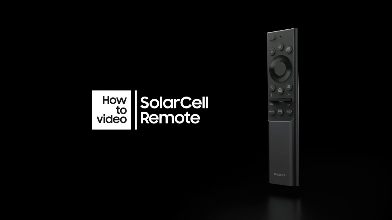 How to use SolarCell Remote with Neo QLED   Samsung