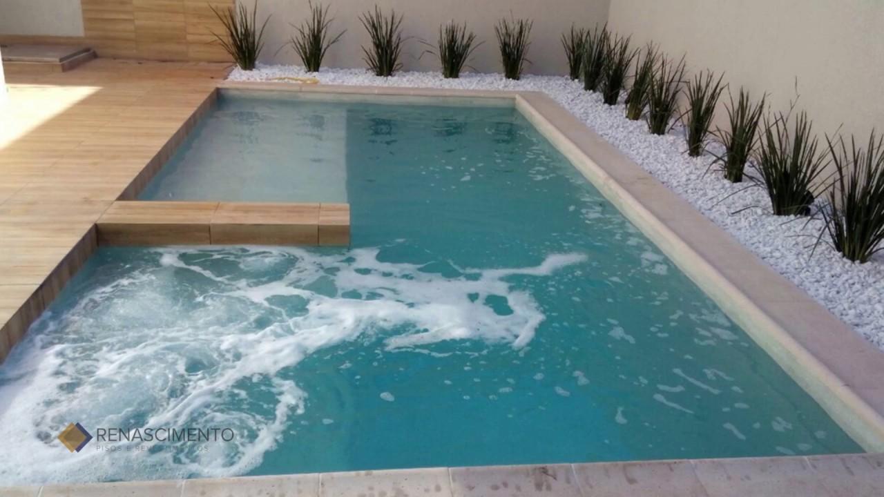Renascimento pisos revestimentos e bordas para piscina for Bordes de piscinas fotos