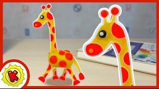 Лепим из пластилина ЖИРАФА. Мультфильм. Giraffe in Plasticine. Play-Doh