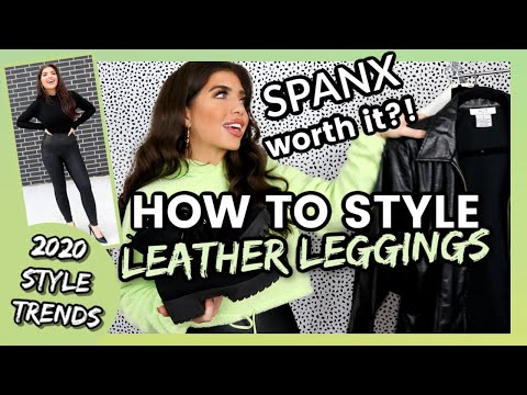 HOW TO STYLE SPANX FAUX LEATHER LEGGINGS | Spanx Faux Leather Leggings Honest Review