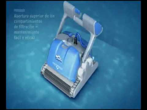 Robot limpia piletas dolphin supreme m4 youtube for Robot piscine dolphin supreme m4