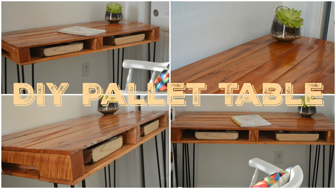 DIY Pallet Table  Faa Voc MesmoMesa de Palete  YouTube