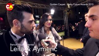 Leila et Aymeric Pk t là ? (Melty Future Awards 2015)