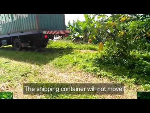 Fiji - The quickest way to unload a shipping container