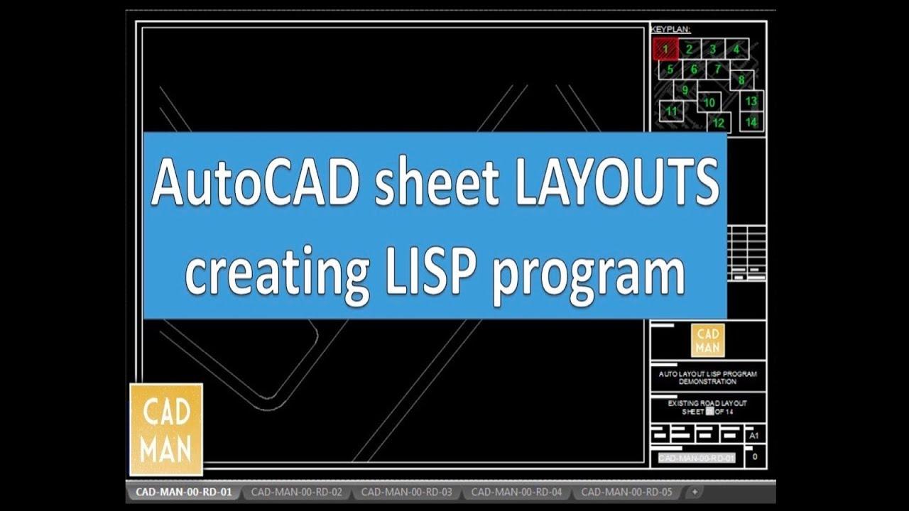 AUTOCAD Layout creating LISP Program(Download from Description)