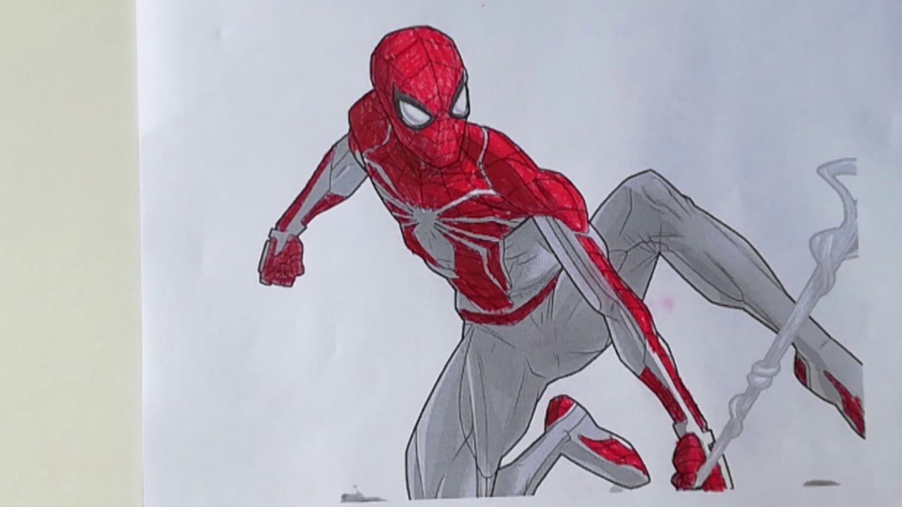 Spider Man Ps4 Sling Style Spider Man Coloring Pages Sailany Coloring Kids Youtube