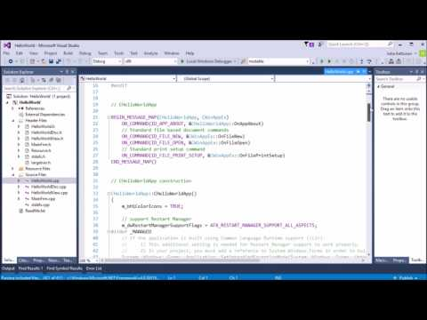 VC++ MFC Basics - 2 - Project File Structure And VS Environment