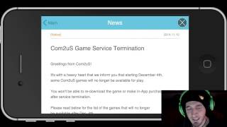 COM2US GAME TERMINATION?? Why you shouldn't spend a ton of money on freemium games.