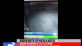 Informe  Roban moto en Pueblo Nuevo