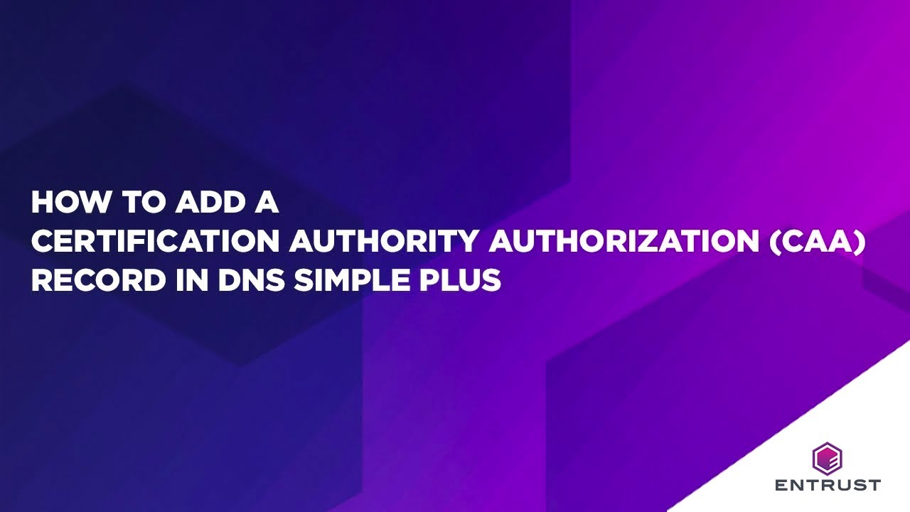 How to add a certification authority authorization caa record in how to add a certification authority authorization caa record in simple dns plus xflitez Images