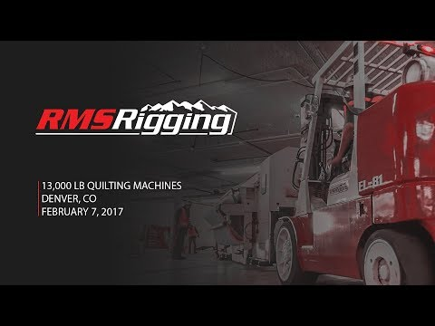 RMS Rigging - Quilting Machines Project