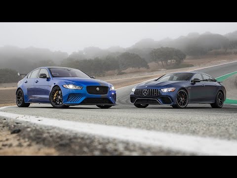 Jaguar XE SV Project 8 vs. Mercedes-AMG GT 63 4MATIC+—2019 BDC Hot Lap Matchup