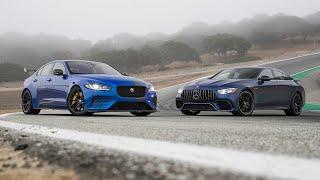 Jaguar XE SV Project 8 vs. Mercedes-AMG GT 63 4MATIC+—2019 BDC Hot Lap Matchup
