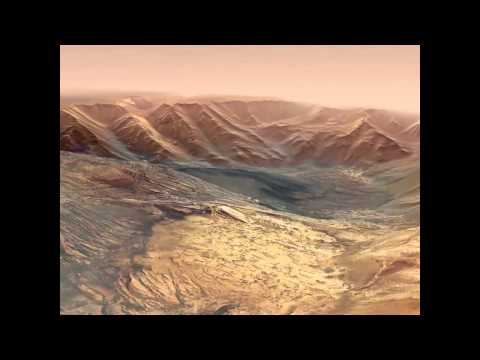 Flying Over a Martian Canyon | ESA Mars Express Space Science HD Video