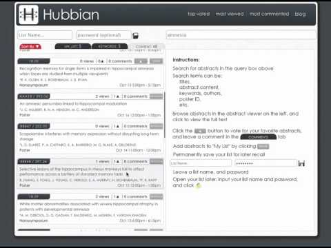Hubbian: how to build a temporary list and print it