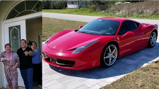 Son Surprises Dad with Ferrari 458 for his Birthday