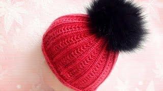 ☆Теплая зимняя шапка, вязание крючком для начинающих, crochet.