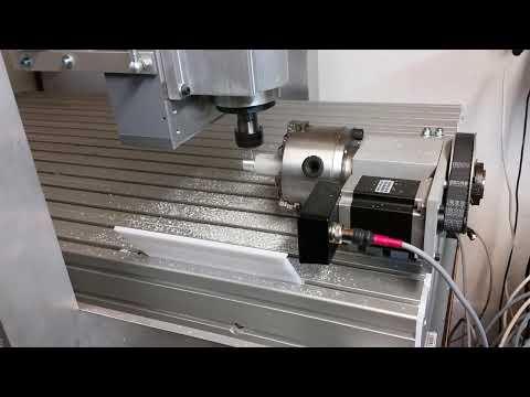 Mill-turning aluminium bar on 4 axis DIY CNC