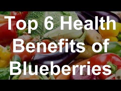 Top 6 Health Benefits of Blueberries