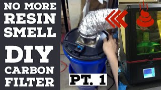 Carbon Air Filtration for 3D Printing Pt. 1 - DIY Activated Charcoal Filter for Resin, FDM Printer