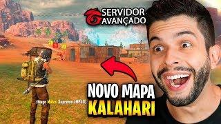 JOGUEI O NOVO MAPA KALAHARI NO SERVIDOR AVANÇADO DO FREE FIRE!!