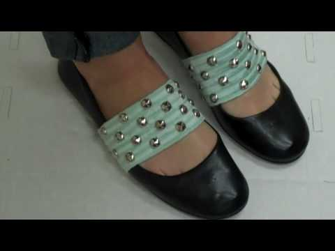 DIY Elastic Shoe Cuffs by New York Design Shop