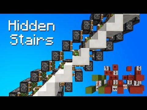 Minecraft Secret/Hidden Piston Stairs