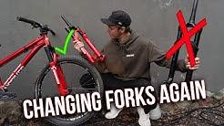 WHAT HAPPENED TO MY CRANKWORX BIKE?! Fork swap & Explanation!