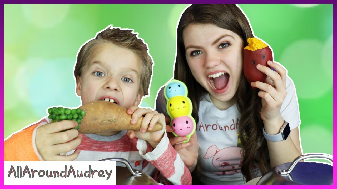 Squishy Toys Vs Real Food : Squishies Vs Real Food Switch Up Challenge / AllAroundAudrey - YouTube