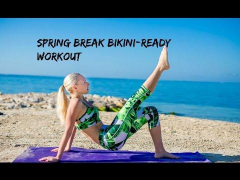 SPRING BREAK BIKINI-READY WORKOUT (WHITEHOUSE, JAMAICA) ☀HOW TO PREVENT BLOATING