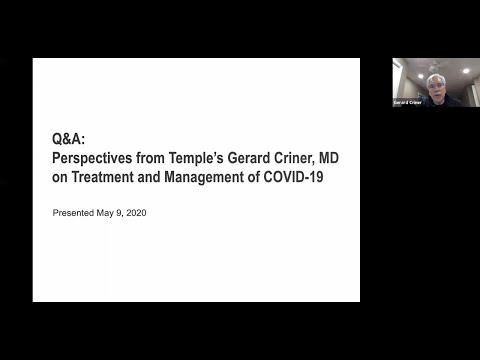 Perspectives From Dr. Gerard Criner On Treatment & Management Of COVID-19 Patients   Temple Health