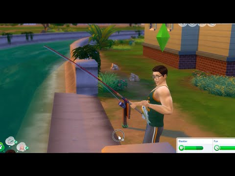 Sims 4 fishing activity catching fish youtube for Sims 4 fishing