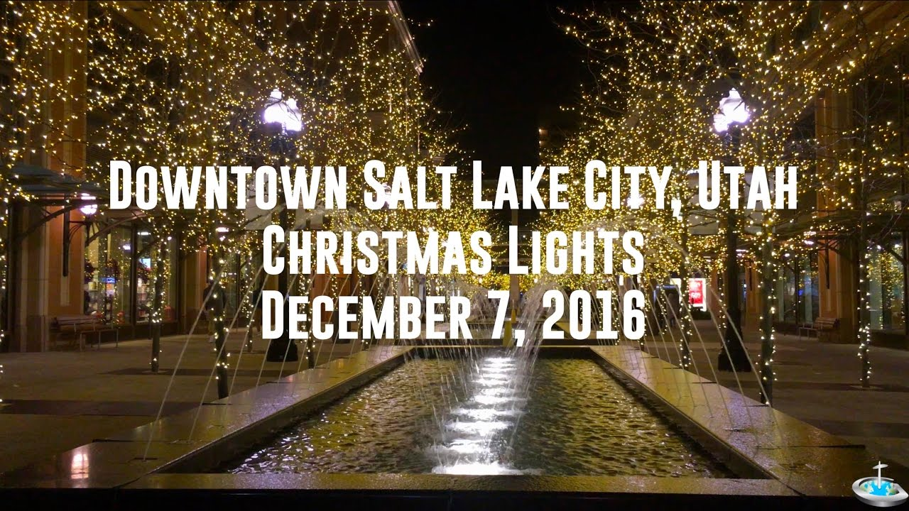 Salt Lake City Christmas Lights (December 2016) - YouTube