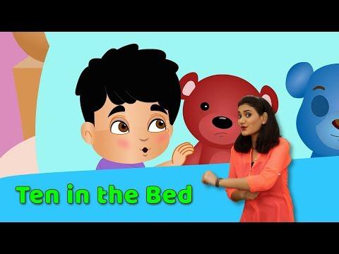 Ten in The Bed with Actions   Children Nursery Rhymes with Actions   Baby Rhymes   10 in The Bed