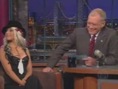 Christina Aguilera Interview  David Letterman 2002