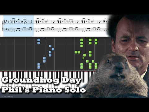 Groundhog Day - Phil's Piano Solo - Synthesia