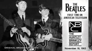 BEATLES FIRST TIME ON AMERICAN TV! NBC News Nov. 18, 1963