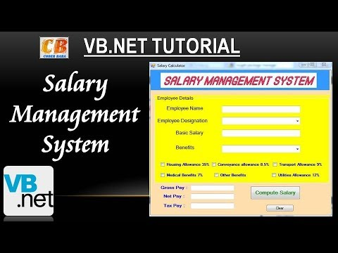 VB.NET | Salary Calculator | How To Calculate Gross Salary, Net Salary & Tax |