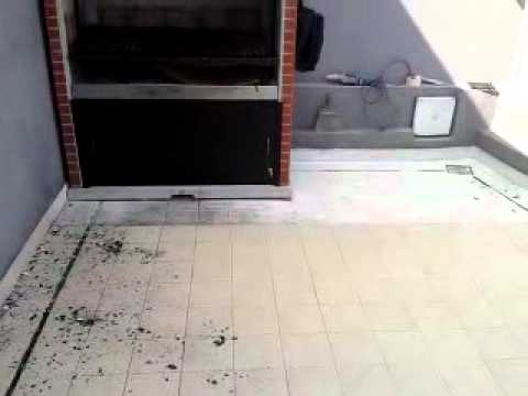 Preparacion de piso de ceramica pintodo con pintura epoxi - Pintura para mosaicos piso ...