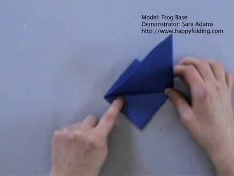 Origami Basics Frog Base Youtube