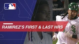 A look at Manny Ramirez's first and last home runs